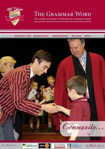 15052013 - Ipswich Grammar School
