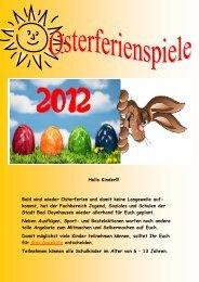 Bald sind wieder Osterferien und damit keine ... - Bad Oeynhausen