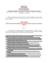 vyhláška č. 38/2001 Sb. o hygienických požadavcích na výrobky ...