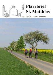Pfarrbrief 2011_2 - St. Matthias