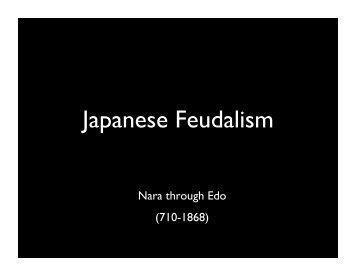 Japanese Feudalism!