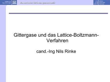 Gittergase und das Lattice-Boltzmann- Verfahren