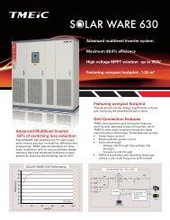 Solar Ware 630 - Tmeic.com