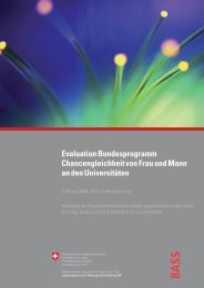 Evaluation Bundesprogramm Chancengleichheit von Frau ... - BASS