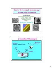 Electron Microscopy & Spectroscopy - (TAM) at Northwestern ...