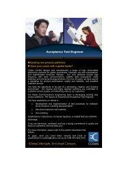 Acceptance Test Engineer - Codan