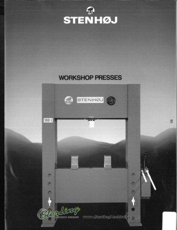 Stenhoj Workshop Presses Brochure - Sterling Machinery