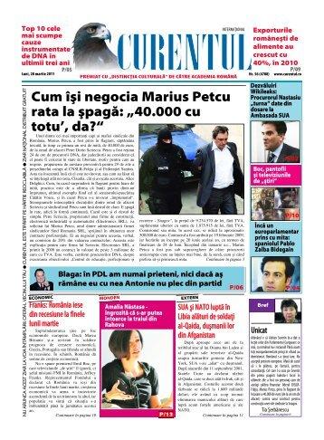 """Cum \[i negocia Marius Petcu rata la [pag`: """"40.000 cu totu ... - Curentul"""