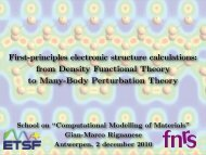 slides - Condensed Matter Theory