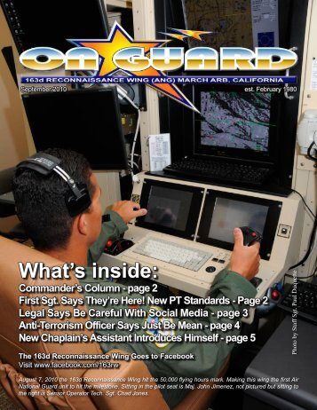 September - 163rd RW, California Air National Guard