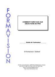 Faire face aux objections de prix - Formavision France