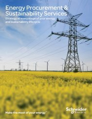 Supply and Sustainability Services brochure - Schneider Electric