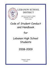 Code of Student Conduct and Handbook for Lebanon High School ...