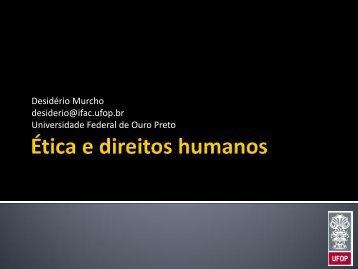 Ética e direitos humanos - Desidério Murcho
