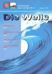 Die Welle 1/2003 - SV Bayer Uerdingen 08 eV