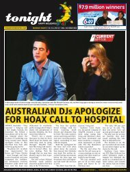 AUSTRALIAN DJs APOLOGIZE FOR HOAX CALL TO HOSPITAL