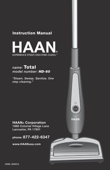 HD60 - HAAN Total User Manual