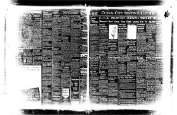 Chatterbox - On-Line Newspaper Archives of Ocean City