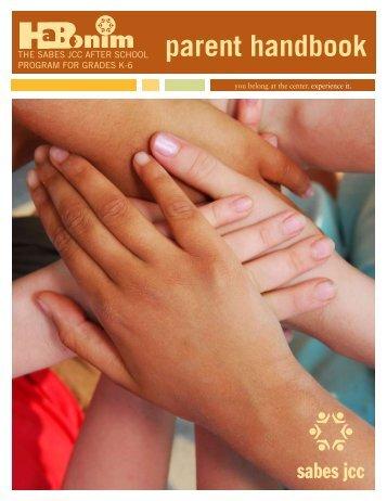 parent handbook parent handbook - Sabes Jewish Community Center