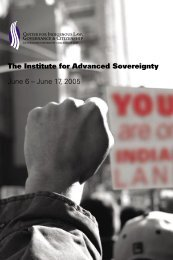 The Institute for Advanced Sovereignty June 6 – June 17, 2005