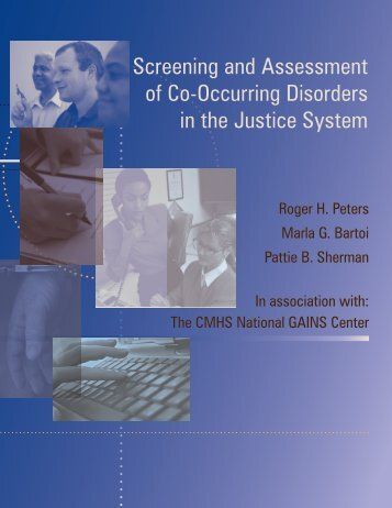 Screening and Assessment of Co-Occurring Disorders in the Justice ...