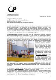 Rundbrief Juli 2010 - Gymnasium Altenholz