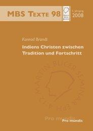 Indiens Christen zwischen Tradition und Fortschritt - Martin Bucer ...