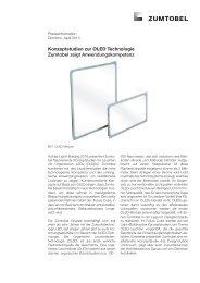 Konzeptstudien zur OLED Technologie Zumtobel zeigt ...
