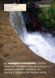 our ecological sustainability priorities range from ... - The Co-operative