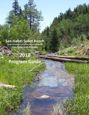 2012 Program Guide - Rocky Mountain Council