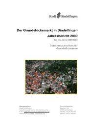 Jahresbericht 2009 - bei der Stadt Sindelfingen