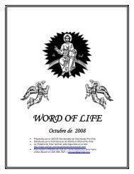 WORD OF LIFE Octubre de 2008