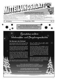 Dezember 2009 - Verwaltungsgemeinschaft Stegaurach