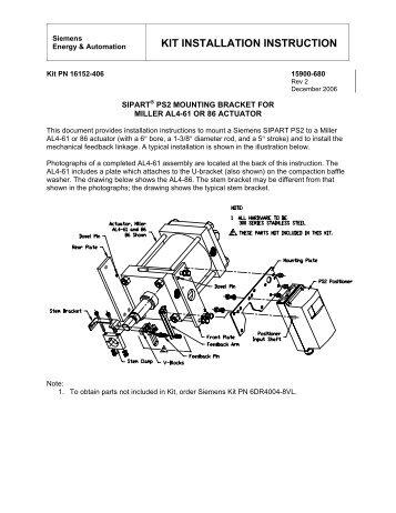 KIT INSTALLATION INSTRUCTION - Siemens