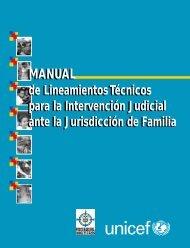 Manual de lineamientos técnicos para la intervención judicial