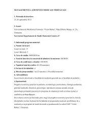 """Universitatea de Medicina si Farmacie """"Victor Babes"""", Pt"""