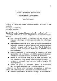 Traduzione Letteraria - Università degli studi di Napoli L'Orientale
