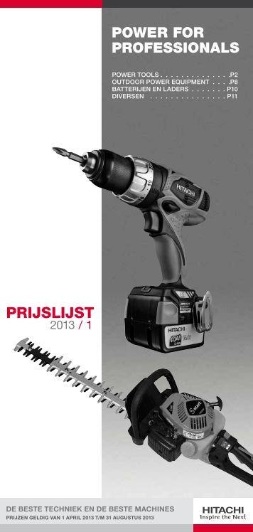Prijslijst 2013