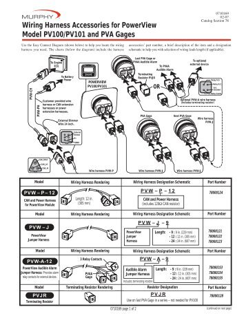 wiring harness accessories for powerview model pv100 murphy?quality\\\=85 circuit wiring diagram for radio sound model 9804cd cvo ess,wiring  at soozxer.org