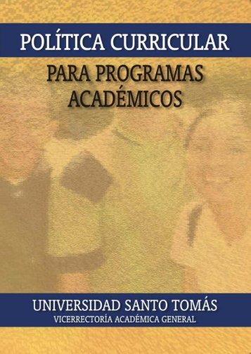 Política Curricular - Facultad de Ingeniería Civil - Universidad Santo ...