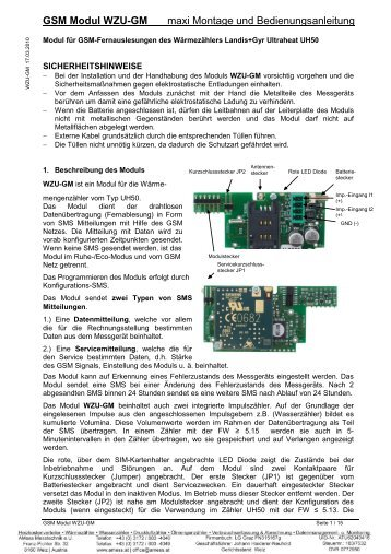 GSM Modul WZU-GM maxi Montage und ... - AMess