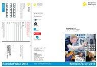 Betriebsferien 2012 Betriebsferien 2012 - Aktion Betriebsferien ...