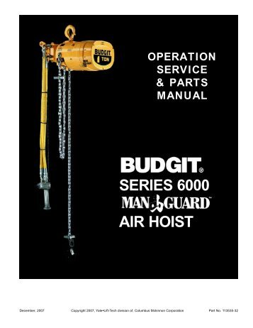 SERIES 6000 AIR HOIST - Hoists Direct