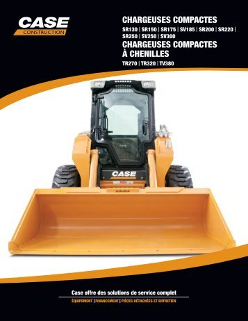 chargeuses compactes chargeuses compactes à chenilles - Case ...