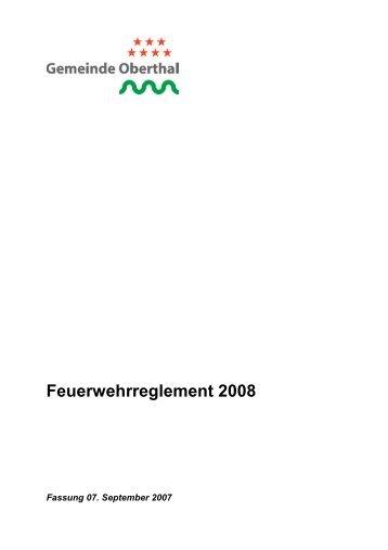 Feuerwehrreglement 2008 - Oberthal