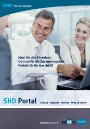 SHD Portal E-Mails · Aufgaben · Termine · News