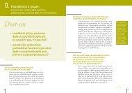 13. Populations à risque : personnes non-communicantes ... - CNRD