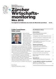 März 2013 - Amt für Wirtschaft und Arbeit - Kanton Zürich
