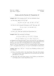 Mathematik für Physiker B: ¨Ubungsblatt 10
