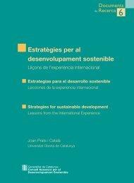 Estratègies per al desenvolupament sostenible - Generalitat de ...
